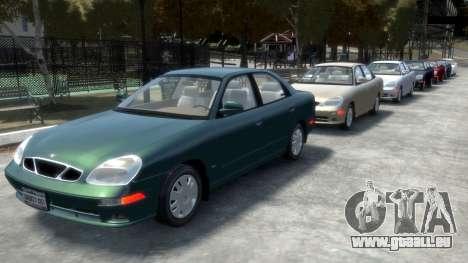 Daewoo Nubira II Sedan SX USA 2000 pour GTA 4 roues