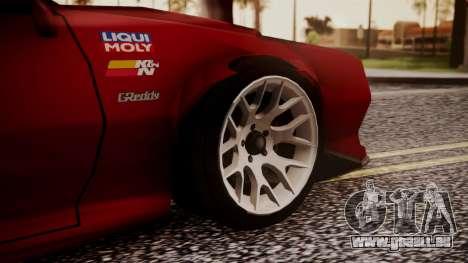 Buffalo R3 (Highly Tuned) pour GTA San Andreas sur la vue arrière gauche
