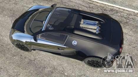 GTA 5 Bugatti Veyron Grand Sport v5.0 vue arrière