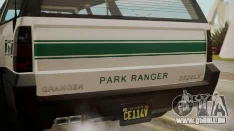 GTA 5 Declasse Granger Park Ranger für GTA San Andreas Rückansicht