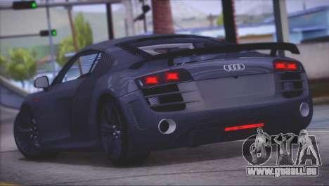 Audi R8 GT 2012 Sport Tuning V 1.0 pour GTA San Andreas sur la vue arrière gauche