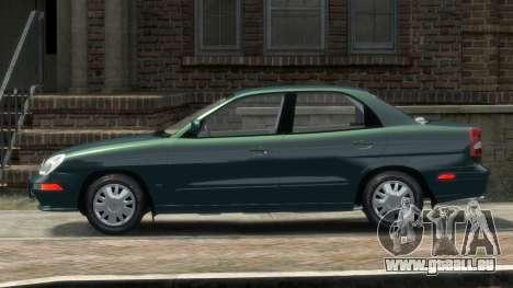 Daewoo Nubira II Sedan SX USA 2000 pour GTA 4 est une gauche