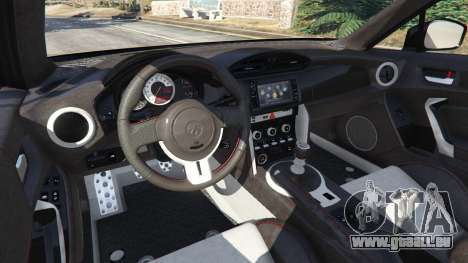 GTA 5 Toyota GT-86 v1.4 arrière droit vue de côté