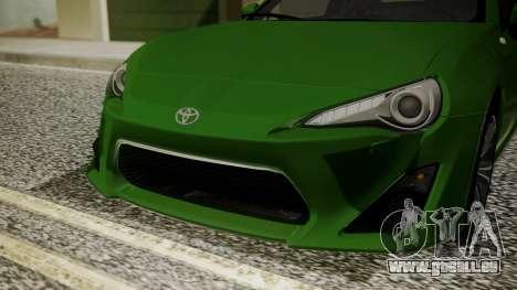 Toyota GT86 2012 für GTA San Andreas Innenansicht