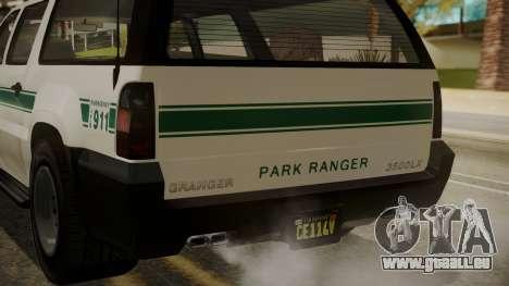 GTA 5 Declasse Granger Park Ranger IVF für GTA San Andreas obere Ansicht
