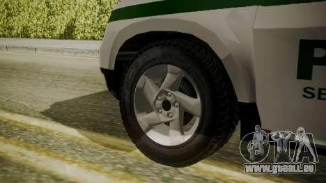 Renault Duster Patrulla Policia Colombiana für GTA San Andreas zurück linke Ansicht