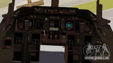 Boeing 747-8I Philippine Airlines pour GTA San Andreas vue intérieure
