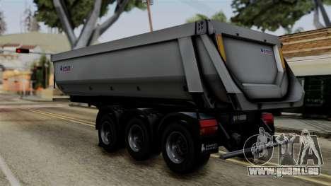 Schmied Bigcargo Solid Trailer Stock pour GTA San Andreas laissé vue