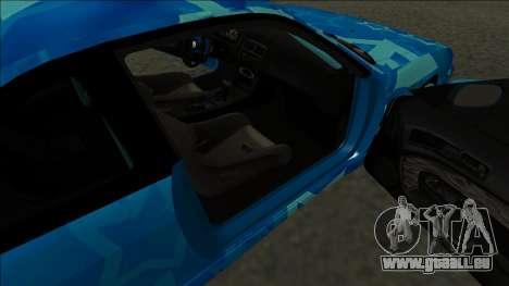 Nissan Silvia S14 Drift Blue Star pour GTA San Andreas sur la vue arrière gauche
