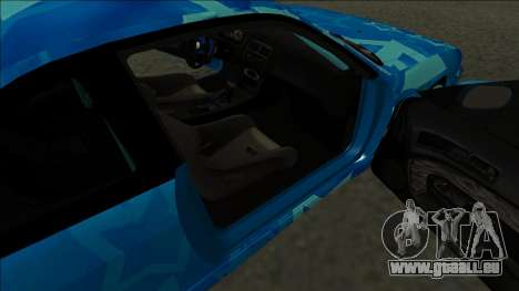 Nissan Silvia S14 Drift Blue Star für GTA San Andreas zurück linke Ansicht