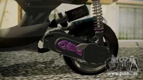 MBK Booster Rocket Tuning pour GTA San Andreas sur la vue arrière gauche