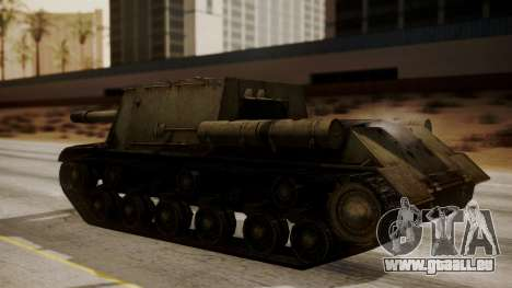 ISU-152 from World of Tanks pour GTA San Andreas sur la vue arrière gauche