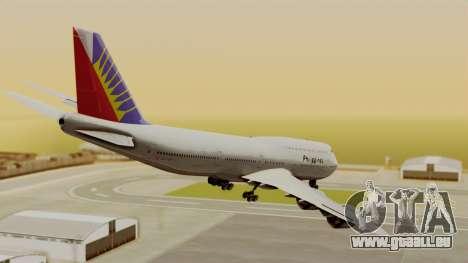 Boeing 747-8I Philippine Airlines für GTA San Andreas linke Ansicht