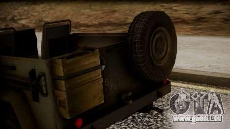 UAZ MGS5 TPP für GTA San Andreas Rückansicht