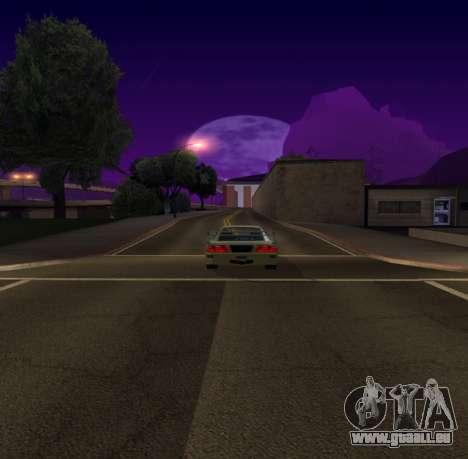 Need for Speed Cam Shake pour GTA San Andreas deuxième écran