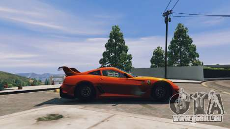 GTA 5 Ferrari 599XX Super Sports Car linke Seitenansicht