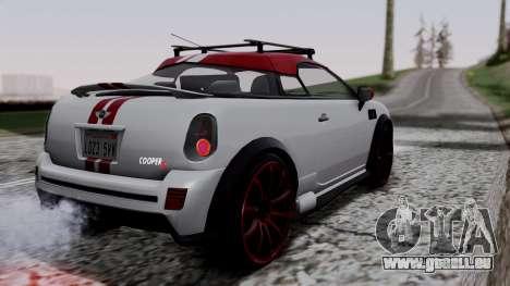Mini Cooper S Weeny Issi pour GTA San Andreas laissé vue