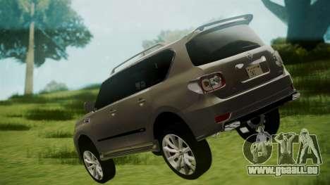 Nissan Patrol IMPUL 2014 pour GTA San Andreas laissé vue