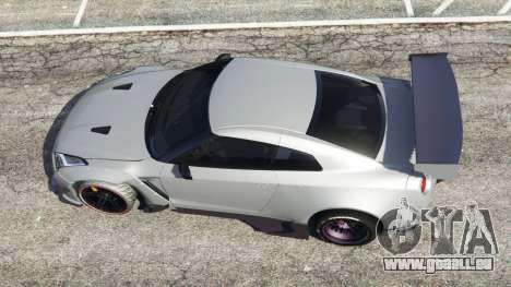 GTA 5 Nissan GT-R (R35) [RocketBunny] vue arrière