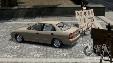 Daewoo Nubira II Sedan S PL 2000 pour GTA 4 est un droit
