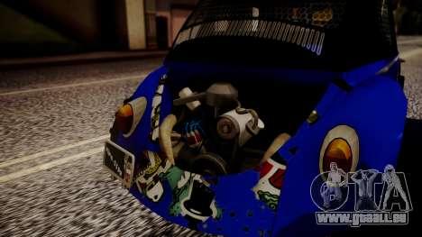 Volkswagen Beetle Vocho-Buggy für GTA San Andreas Rückansicht