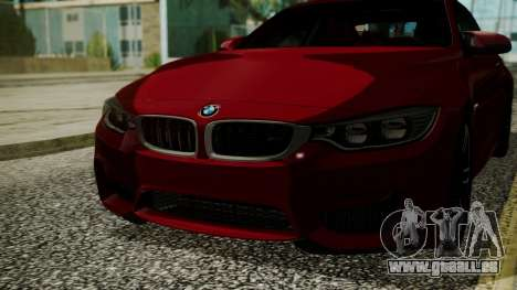 BMW M4 Coupe 2015 Walnut Wood für GTA San Andreas Innenansicht