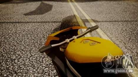 NRG-500 Number 7 Mod für GTA San Andreas Rückansicht
