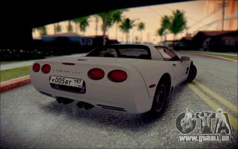 Chevrolet Corvette C5 2003 für GTA San Andreas Innenansicht