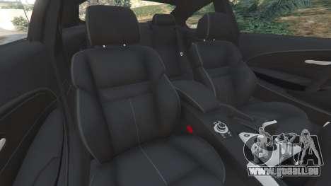 GTA 5 BMW M6 (E63) Tunable v1.0 avant droite vue de côté