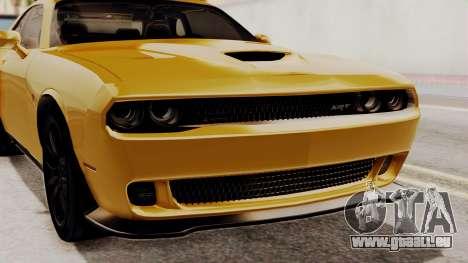 Dodge Challenger SRT Hellcat 2015 IVF PJ pour GTA San Andreas vue intérieure
