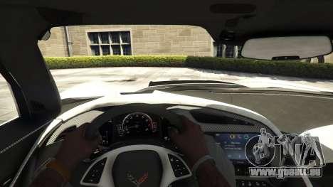 GTA 5 Chevrolet Corvette C7 Z06 vue arrière