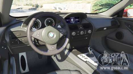 GTA 5 BMW M6 (E63) rechte Seitenansicht