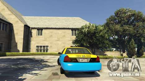 Ford Crown Victoria Taxi v1.1 pour GTA 5