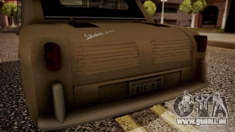 Vespa 400 1958 pour GTA San Andreas vue arrière