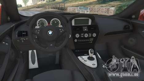 GTA 5 BMW M6 (E63) Tunable v1.0 droite vue latérale