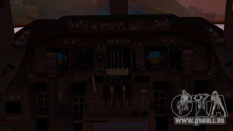 Boeing 747-200 Malaysia Airlines pour GTA San Andreas vue intérieure