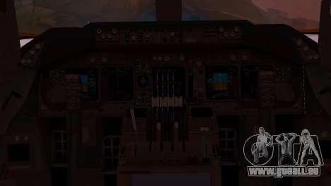 Boeing 747-200 Malaysia Airlines für GTA San Andreas Innenansicht