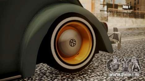 Volkswagen Beetle Aircooled für GTA San Andreas zurück linke Ansicht