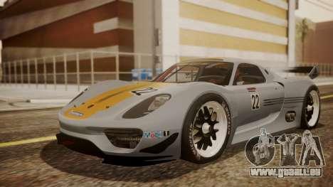 Porsche 918 RSR für GTA San Andreas