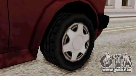 Updated Club Beta v1 pour GTA San Andreas sur la vue arrière gauche
