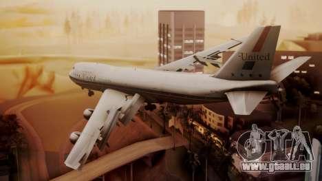 Boeing 747-100 United Airlines Friend Ship pour GTA San Andreas laissé vue