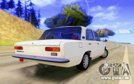 VAZ 2101 Stock pour GTA San Andreas sur la vue arrière gauche