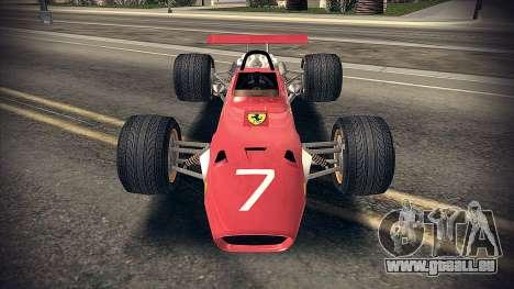 Ferrari 312 F1 pour GTA San Andreas laissé vue