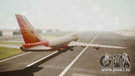 Boeing 747-8I Air India für GTA San Andreas linke Ansicht