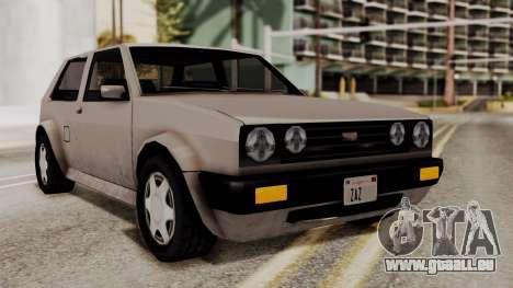Updated Club Beta v2 pour GTA San Andreas sur la vue arrière gauche