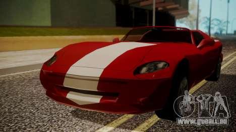 Banshee Edition 2015 pour GTA San Andreas sur la vue arrière gauche