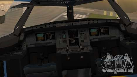 Airbus A380 Air Force One für GTA San Andreas Rückansicht