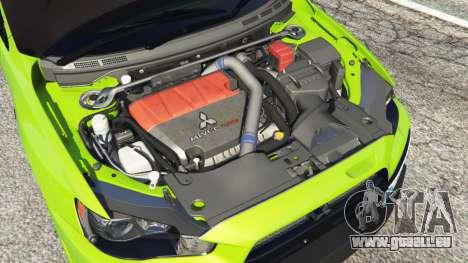 GTA 5 Mitsubishi Lancer Evolution X FQ-400 droite vue latérale