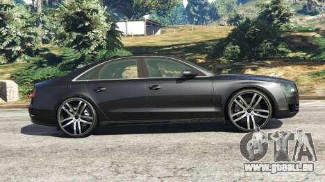 GTA 5 Audi A8 vue latérale gauche