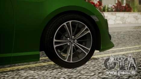 Toyota GT86 2012 für GTA San Andreas zurück linke Ansicht